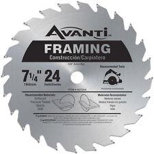 Avanti AO724A 7-1/4-inch 24T Framing Circular Saw Blade, 5/8-inch Arbor