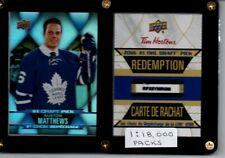 2016-17 Tim Horton's Auston Matthews DP-1 1:18000 Packs
