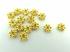 5mm Daisy Spacer Flower Bali Beads Handmade Gold Plated 30 Pieces pack