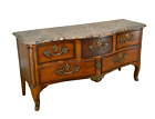 Henredon French Louis XV Style Large Marble Top Commode Chest