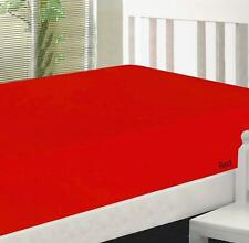"""FittedSheet 15""""Deep Pkt Elastic All Around TwinXL 100%Cotton 600 TC Red Solid"""