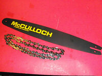 """NEW BAR /& CHAIN  COMBO McCULLOCH 20/"""" SPROCKET NOSE BAR 325 050 81 LINK 323217-33"""