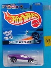 C98 HOT WHEELS QUICKSILVER SERIES AEROFLASH #546 FAST ON TRACK NEW ON CARD