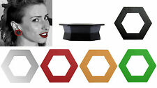 GeoGauges Brand Hexagon Shaped Silicone Tunnels Ear Plugs Gauges Body Jewelry