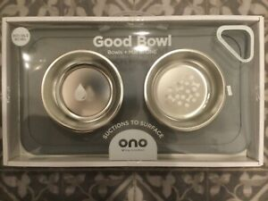 The Ono Good Bowl (Double) Silicone Placemat That Suctions To The Surface!
