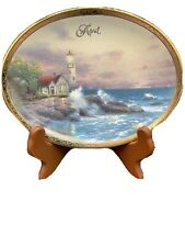 Thomas Kinkade Beacon Of Hope-Bradford Exchange Collector Plate Lighthouse April