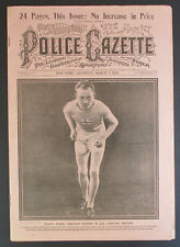 1925 PAAVO NURMI Olympic Track Runner National Police Gazette Magazine baseball