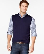 Cutter & Buck Big And Tall Douglas V-neck Sweater Vest Navy Mens Size 5XB New