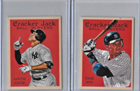 Derek Jeter Aaron Judge Mini Cracker Jack Ball Player Cards 2 Card Set