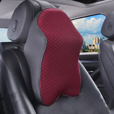 Car Seat Back Memory Headrest Foam Pad Neck Rest Travel Support Cushion Pillow