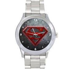 Reloj De Pulsera símbolo De Superman Hombre De Acero Superhéroe Calidad Acero Inoxidable
