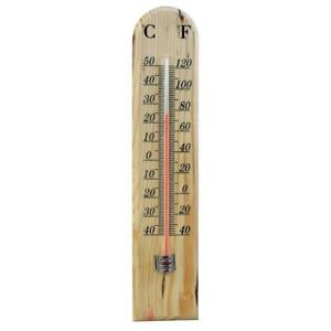 Outdoor Wooden Wood Garden Greenhouse House Home Wall Thermometer Temperature