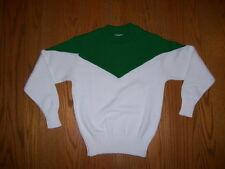 Cheerleader Sweater Green / White ( Green over White ) - women's Size 38