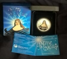 2010 ONE DOLLAR SILVER PROOF COIN *SAINT MARY MACKILLOP* ONE OZ SILVER