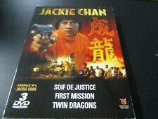 """COFFRET 3 DVD """"JACKIE CHAN : SOIF DE JUSTICE / FIRST MISSION / TWIN DRAGONS"""""""