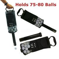 Golf Shag Bag 75-80 Balls Portable Convenient Pocket Storage Tees Pick Up