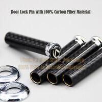 4pcs Real Carbon Fiber Door Pin of Door Panel fits Lexus
