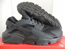 WMNS NIKE AIR HUARACHE RUN BLACK-BLACK SZ 5 [634835-009]