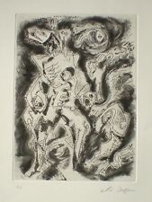 André MASSON. Gravure originale signée. E.A. Eau-forte et aquatinte.
