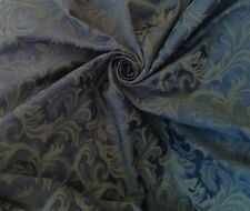 Navy Blue  Prestigious Jacquard Brocade Curtain Upholstery Fabric 70 Metre Roll