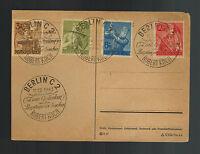 1943 Berlin Germany Postcard Cover Labor Korps Set Robert Koch