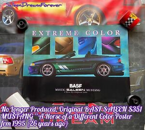 RARE SALEEN S351 BASF MYSTIC MUSTANG EXTREME COLOR POSTER FRM 1995 FORD GT COBRA