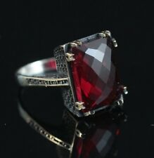 Turkish Handmade Jewelry Sterling Silver 925 Ruby Ring7 8 9