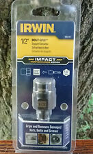 """New listing Irwin Bolt-Grip 1/2"""" Bolt Impact Extractor - 3/8"""" Square Drive, 1/4"""" Hex Adapter"""