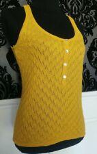 Zara Knit Vintage Style Tank Vest Layering Top Yellow Size M