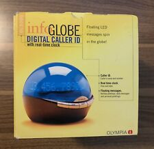 """Olympia  Innovative dome """" Infoglobe Digital Caller ID """"  with Real-Time Clock"""