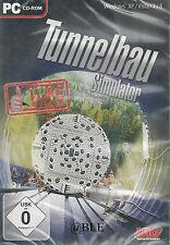 PC CD-ROM + Tunnelbau Simulator + Tunnel + Gestein + Sprengung + Bohrer + Win 8