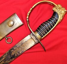 RARE PRE WW1 BRITISH ARMY 1803 PAT. GRENADIER COMPANY OFFICER'S SWORD & SCABBARD