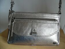 The Sak Gold Metallic Leather Crossbody Bag, Excellent Condition