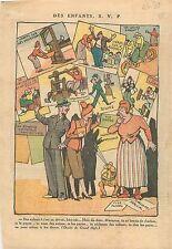 Caricature Politique Familiale Enfants Concierge Marianne Fiscs Impôts WWII 1939