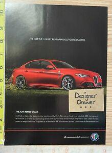 Alfa Romeo Giulia Red 2016 Cars Print Ad Advertisement