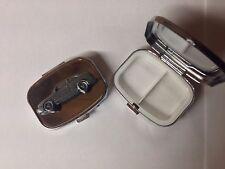 Saab 9.3 Circa 1998 ref227 Pewter Effect car emblem on silver metal pill box