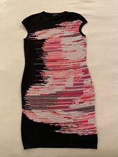 ESCADA Fantasy Dress Stripe Black White Red Logo M / Medium