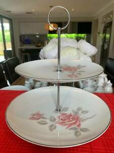 3 Tiered Cake Plate Stand Noritake Milford