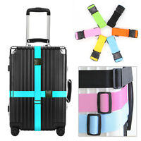 Adjustable Safety Travel Suitcase Luggage Baggage Strap Tie Belt Muti-Colors