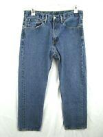 Levis 505 Jeans 34 x 30 Straight Fit Leg Medium Wash Blue Denim Cotton Red Tag