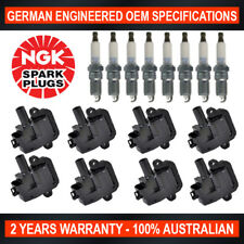 8x NGK Iridium Spark Plugs & Ignition Coil for Holden HSV VY VZ WK WL LS1 5.7 V8
