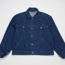 WRANGLER Embroidered Southwest WESTERN Trucker Jean Jacket Blue Denim Mens L
