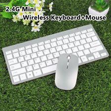 2.4G Mini Wireless Keyboard + Mouse Set Waterproof for Mac Apple PC Computer