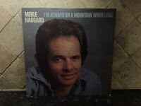 """Merle Haggard """"I'm Always On A Mountain When I Fall"""" LP Vinyl Record MCA-2375 VG"""