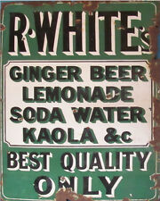 R White's Lemonade Vitage ENAMEL METAL TIN SIGN WALL PLAQUE