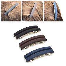 2pc/ Matte Plastic 45mm Side Ponytail Hair Clasp Clip Pin Barrette Hairpin Plain