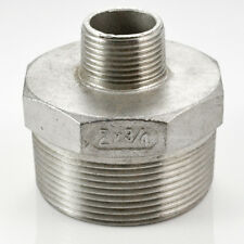 """3/4"""" Male Reducer HEX SCREWED NIPPLE BSPT THREAD 304 STAINLESS STEEL FITTING"""