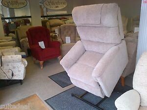 Lift & rise recliner, riser recliner. In stock red or beige. Suite Deal Bexley.