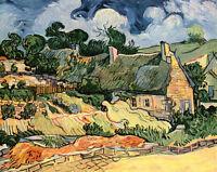 Dream-art Oil painting Vincent Van Gogh - Abstract landscape camp houses canvas
