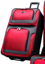 "US Traveler New Yorker Red 25"" Lightweight Expandable Rolling Luggage Suitcase"